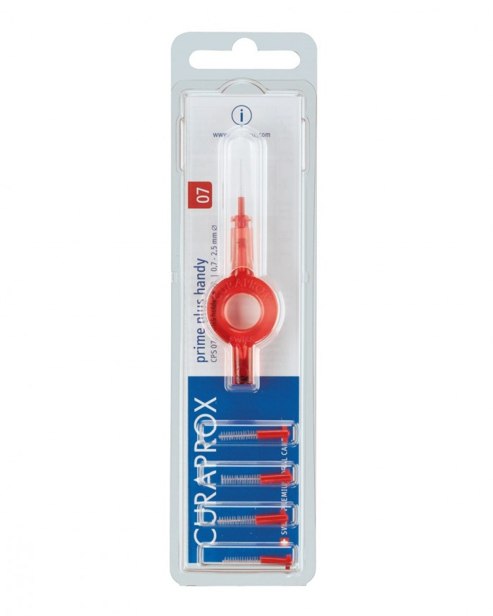 Interdental brushes CPS 07 prime plus handy, red